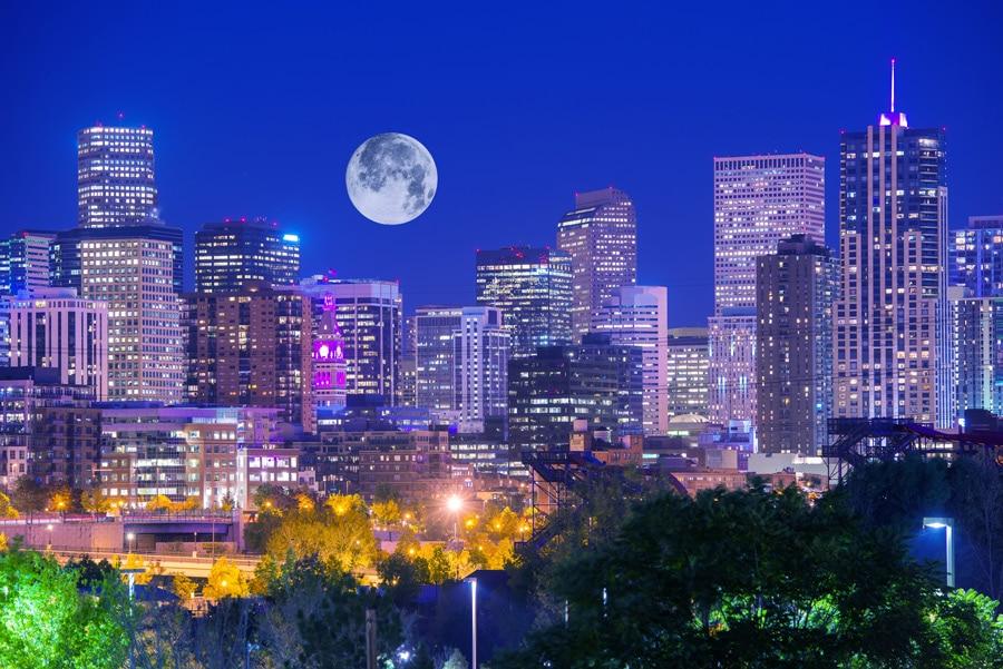 Denver Colorado at Night - Get Your Quote