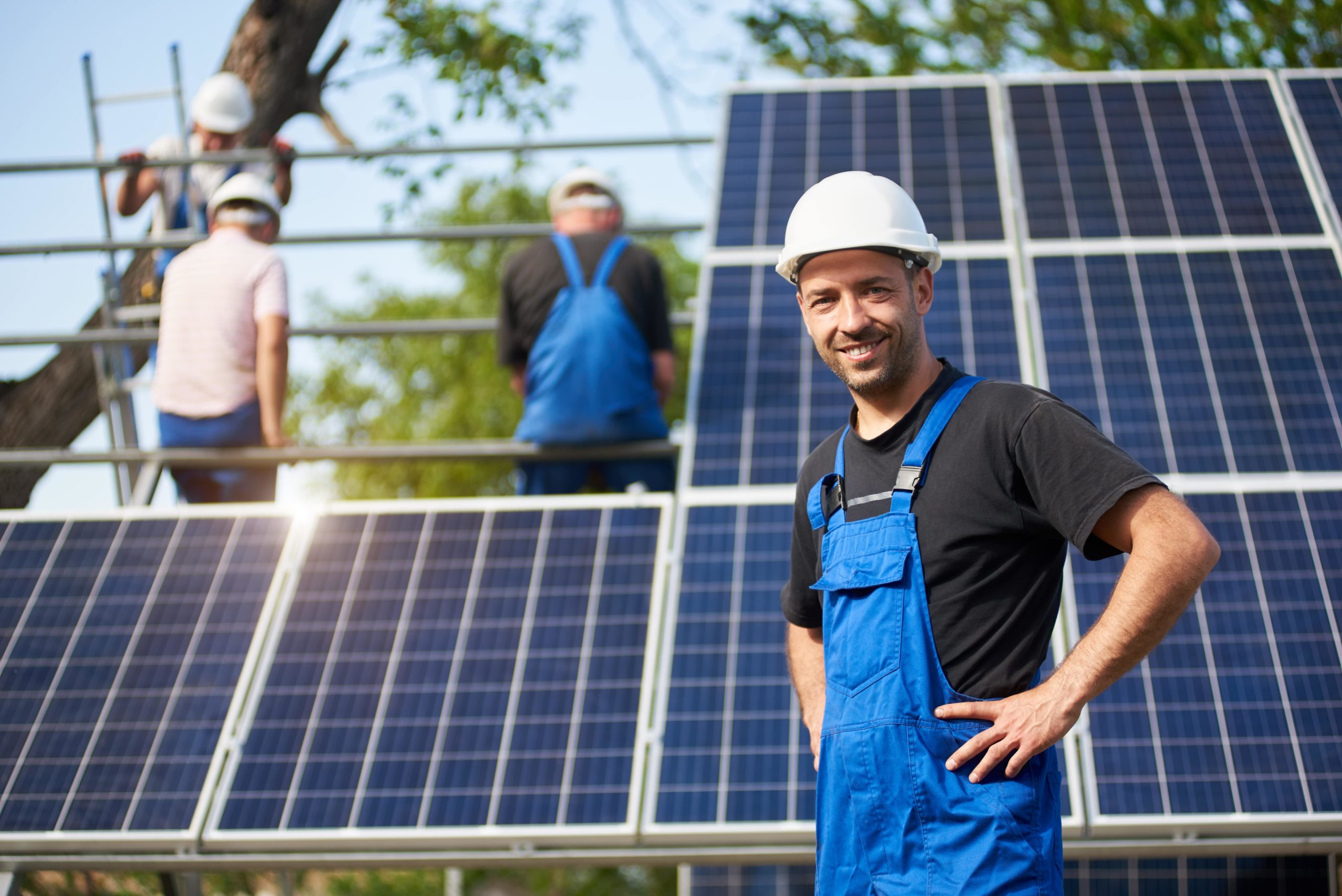 General Contractor working on Solar Panels - Solar Panel Companies Near Me - Get Your Quote