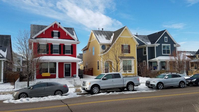 denver houses painted different colors
