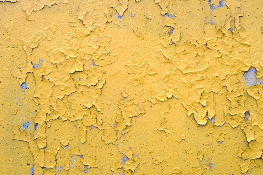 peeling-yellow-paint